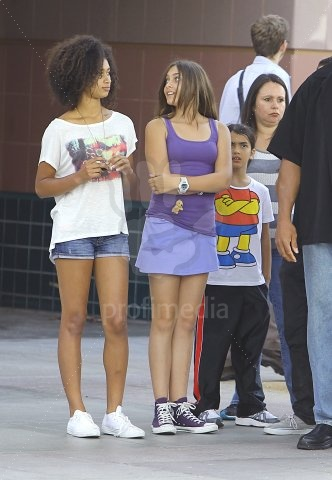 prince Paris and blanket Jackson out with cousins
