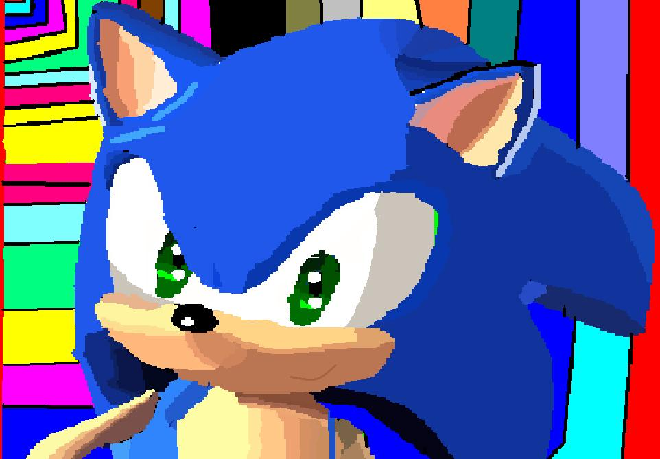 sonic the hedgehog 3d speed painting