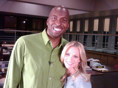 """AJ with John Salley of GAME ON!"""