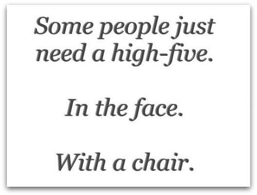 A high five can go a long way....