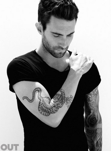 "Adam Levine: Photoshoot for ""Out"" Magazine"