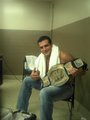 Alberto with the WWE title