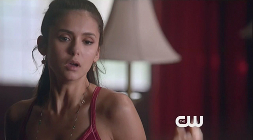 The Vampire Diaries TV دکھائیں پیپر وال probably containing a swimsuit کا, سومساٹ and a portrait titled An Eyeful of Naked Damon