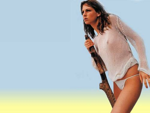 Angela Lindvall - swimsuit-si Wallpaper