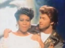 Aretha and George Michael