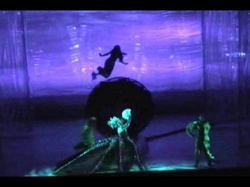 The Little Mermaid On Broadway Wallpaper Entitled Ariels Transformation