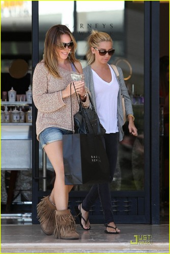 Ashley & Haylie out in Beverly Hills