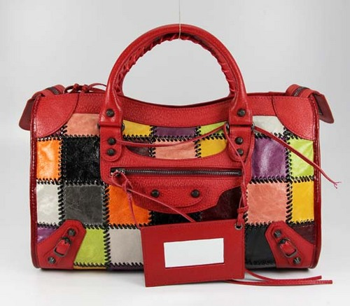 Handbags wallpaper titled Balenciaga Calfskin Red 228332 Purses