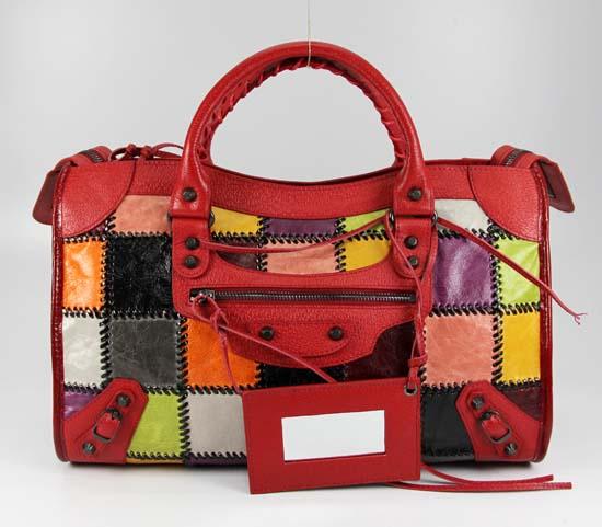 Balenciaga Calfskin Red 228332 Purses