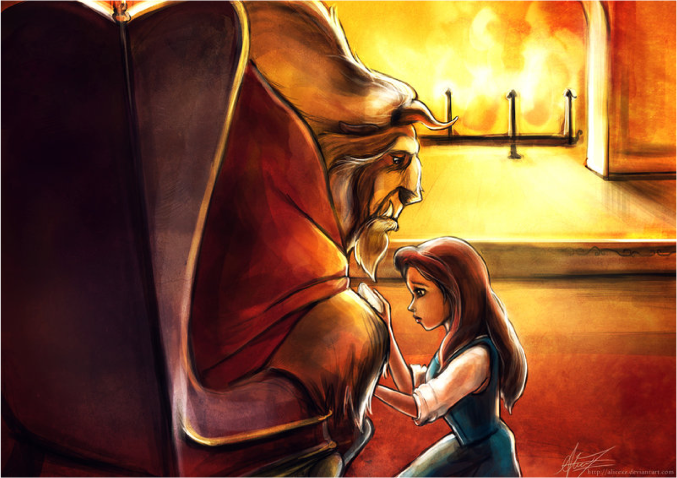 Beauty meets the Beast - Disney Princess Fan Art (24657210 ...