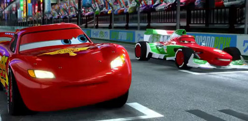 Disney Pixar Cars 2 wallpaper possibly with a minicar entitled Cars 2