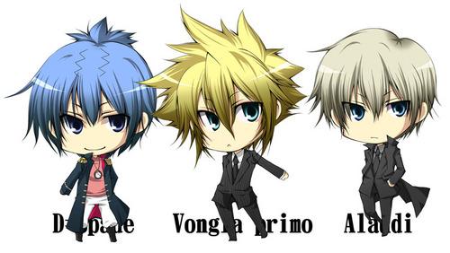 Chibi Primo,Alaude & Daemon