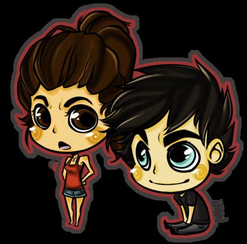 Damon appreciates Elena's ponytail :)
