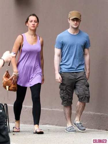 Daniel Radcliffe and his girlfriend
