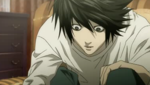 Death Note wallpaper with Anime entitled Death Note-L