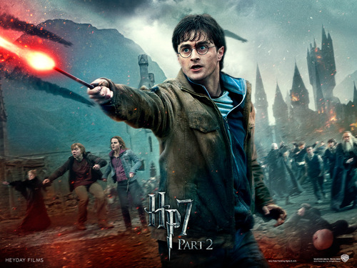 Harry Potter And The Deathly Hallows Part 2 karatasi la kupamba ukuta probably containing a moto entitled Deathly Hallows Part II Official karatasi za kupamba ukuta