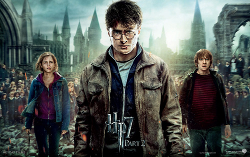 Harry Potter And The Deathly Hallows Part 2 karatasi la kupamba ukuta containing a fur, manyoya kanzu, koti titled Deathly Hallows Part II Official karatasi za kupamba ukuta