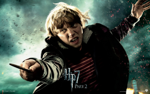 Harry Potter And The Deathly Hallows Part 2 karatasi la kupamba ukuta probably containing a sign entitled Deathly Hallows Part II Official karatasi za kupamba ukuta