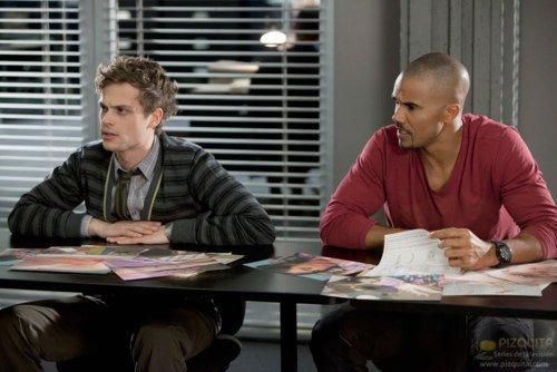 Derek مورگن and Spencer Reid