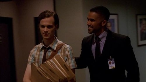 Derek морган and Spencer Reid