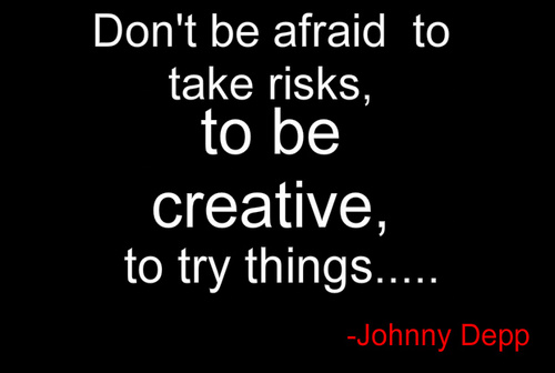 Don't be afraid......