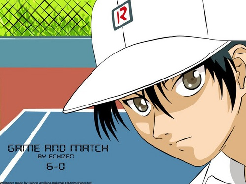 Prince of Tennis wallpaper probably containing a chainlink fence and anime entitled Ehizen~