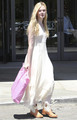 Elle Fanning shops at Nordstrom in Beverly Hills, August 17