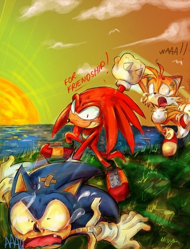 Sonic the Hedgehog wallpaper with anime entitled For Friendship