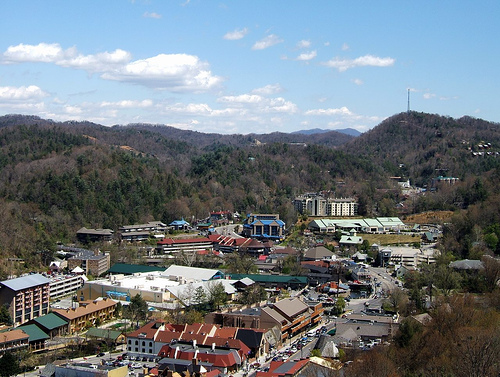 Tennessee wallpaper probably with a business district, a resort, and a ski resort called Gatlinburg, TN