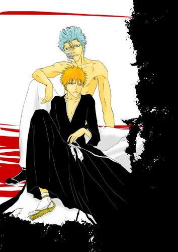 Grimmjow and Ichigo - bleach-yaoi Photo