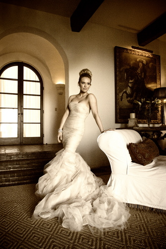 Hilary Duff & Mike Comrie fondo de pantalla with a bridal gown, a gown, and a bridesmaid titled Hilary & Mike