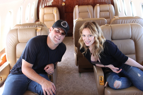 Hilary Duff & Mike Comrie wallpaper probably with a living room, a drawing room, and a family room called Hilary & Mike