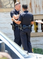 Jake Gyllenhaal On The Set of 'End of Watch' In Los Angeles - jake-gyllenhaal photo