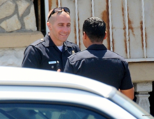 Jake Gyllenhaal On The Set of 'End of Watch' In Los Angeles