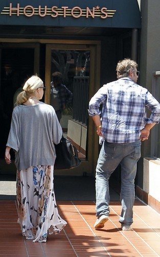 Jessica - With fiance Eric Johnson in LA - August 16, 2011