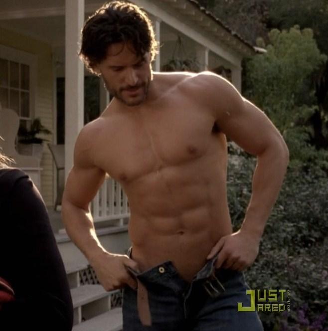 Joe shirtless