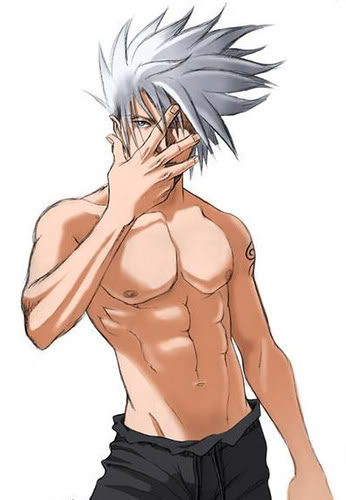 Kakashi shirtless