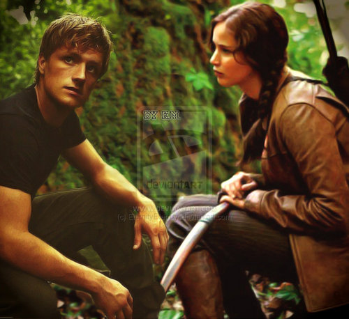 The Hunger Games Movie wallpaper with a vacuum called Katniss and Peeta