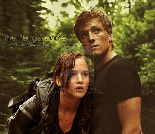 Katniss and Peeta - the-hunger-games-movie Fan Art