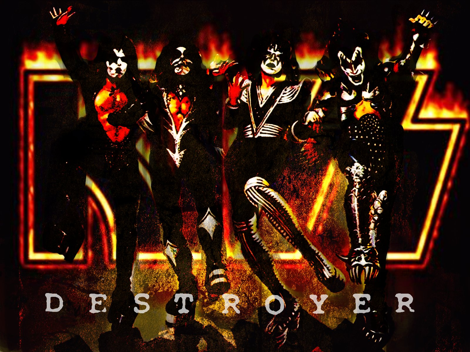 kiss images kiss destroyer hd wallpaper and background