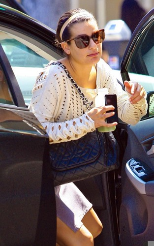 Lea Michele heading to a dentist's office