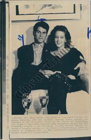 lisa marie presley wallpaper with a newspaper and animê titled Lisa and Danny Keough