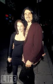 Lisa Marie Presley kertas dinding probably containing a well dressed person, an outerwear, and a leisure wear called Lisa and Danny Keough