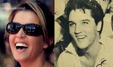 Elvis Aaron Presley and Lisa Marie Presley wallpaper titled Lisa and Elvis