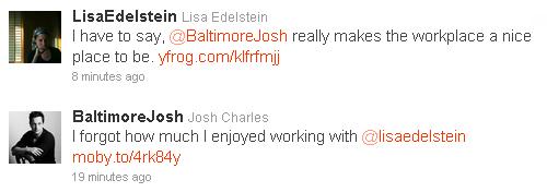 Lisa and Josh's Tweets