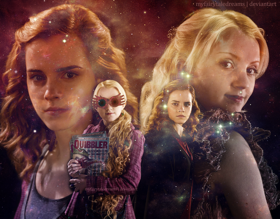 Words are just words anyway meme potterico - Luna lovegood and hermione granger ...
