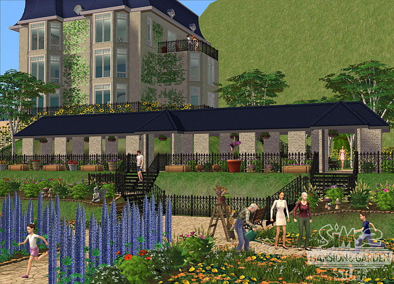 The Sims 2 Mansion And Garden Stuff Images Mansion And Garden HD Wallpaper  And Background Photos