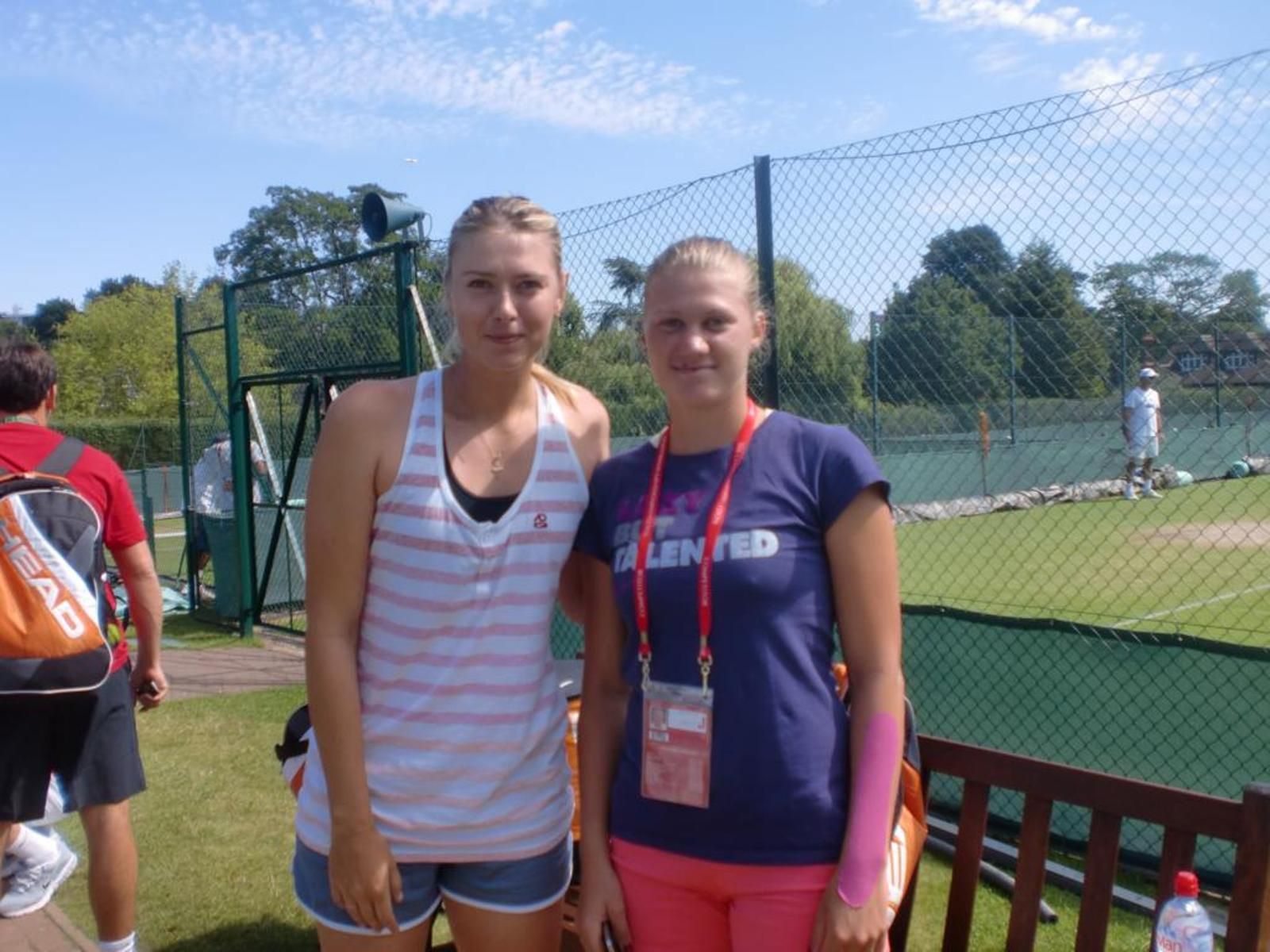 Maria Sharapova (russia) with czech Tenis player