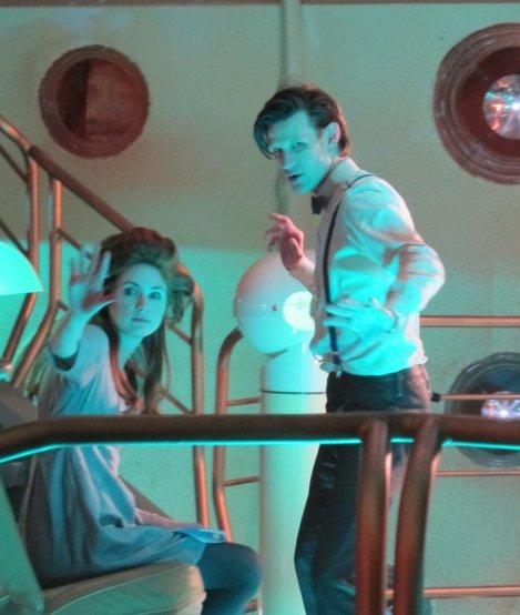 Matt Smith & Karen Gillan Doctor Who Series 6 behind the scenes