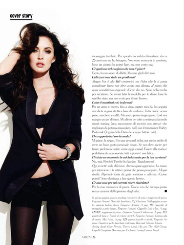 Megan vos, fox in Amica Magazine (September 2011)